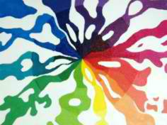 Abstract Color Wheel Art