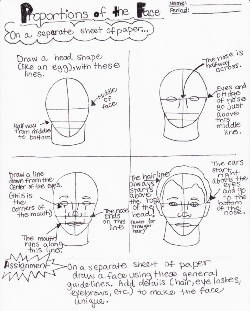 Facial Proportions Worksheet 3 by lantairvlea | DRAWING FACES ...
