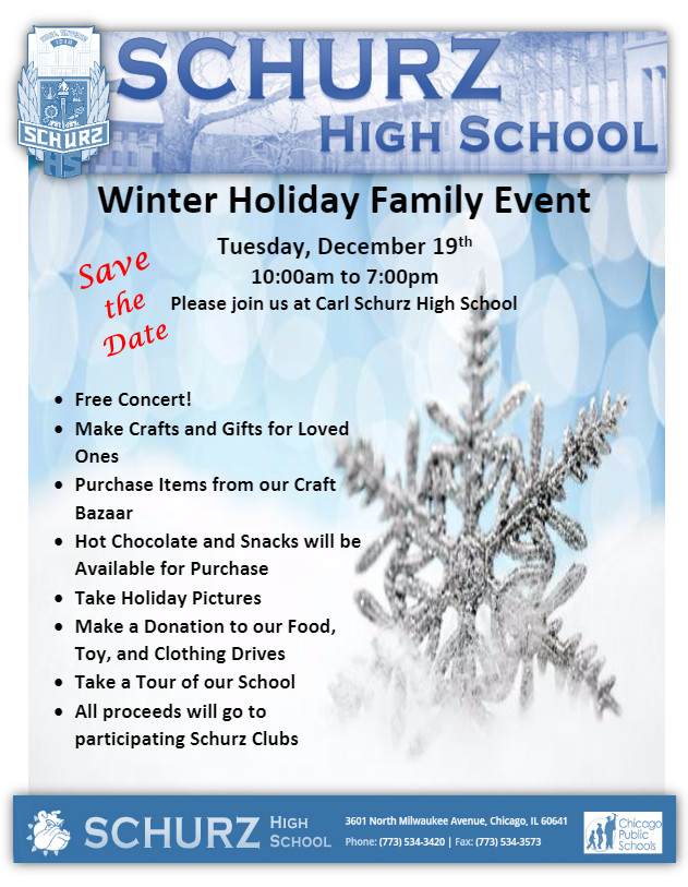 ⛄⛄⛄ Holiday Family Day! Coming Up 12/19 ⛄⛄⛄ - Bulletin